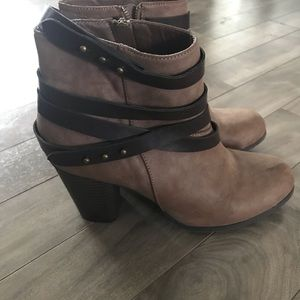 Madden Girl Deluxx Heel Ankle Boots